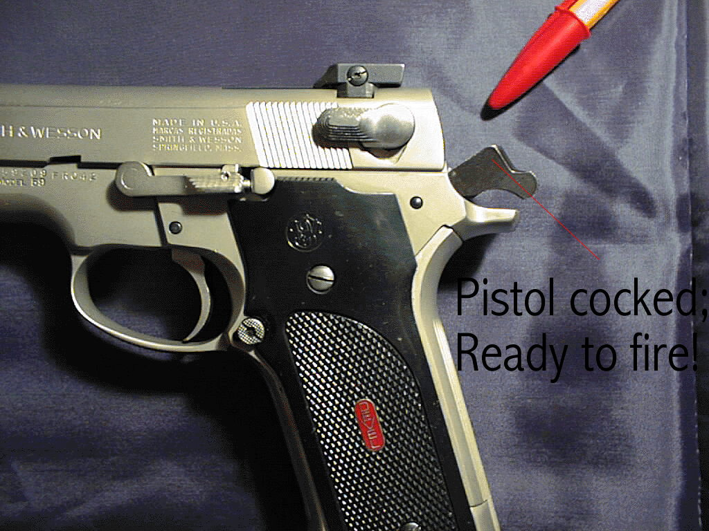 How to uncock a pistol